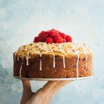 Raspberry Lemon Yogurt Cake