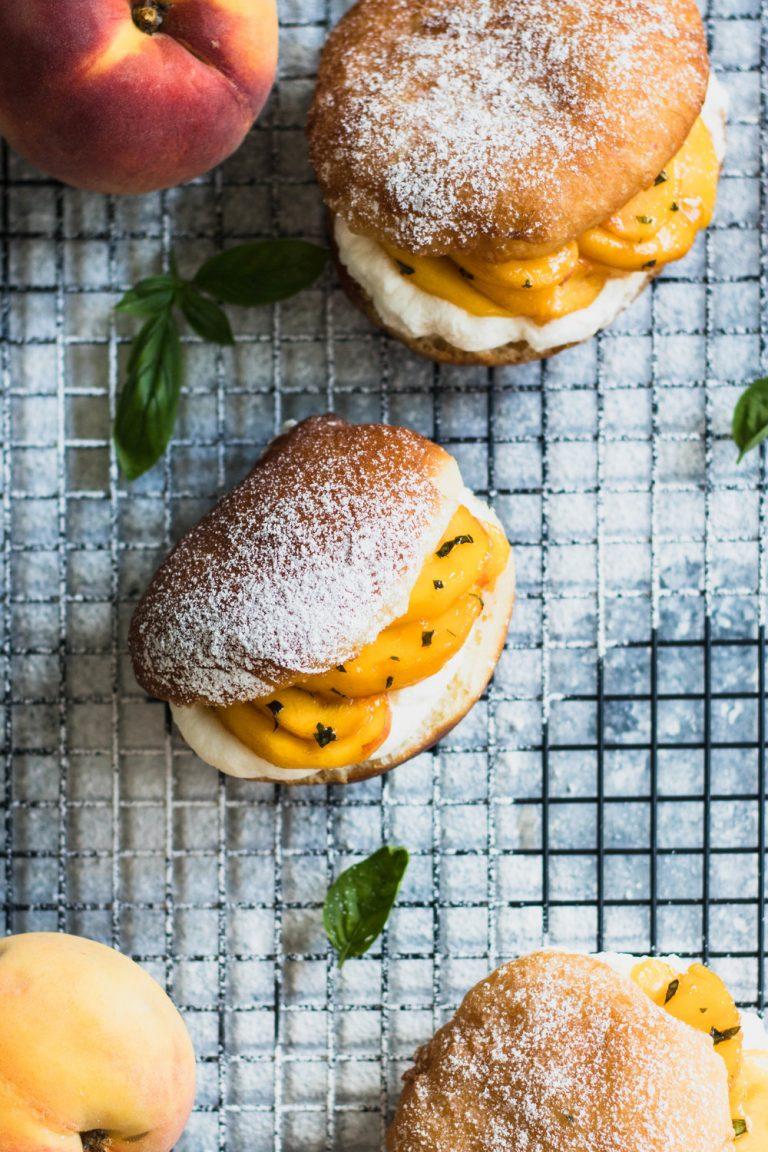 Peach Basil Donuts