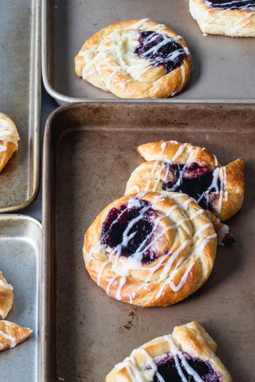 Blueberry Breakfast Danishes