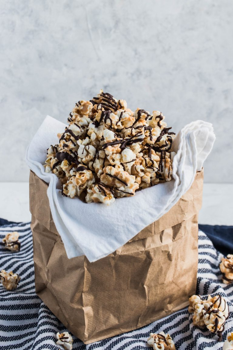 Toffee Chocolate Popcorn