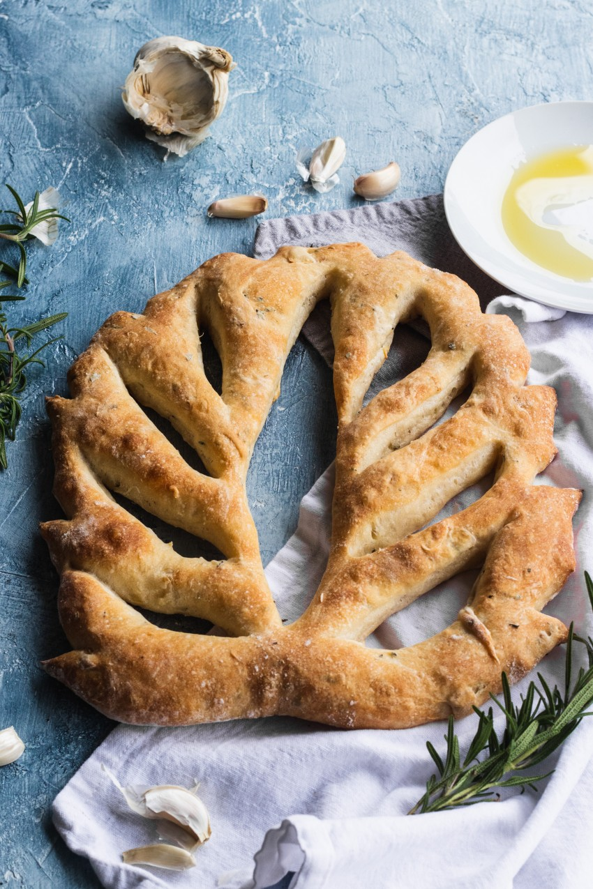 Rosemary Garlic Fougasse