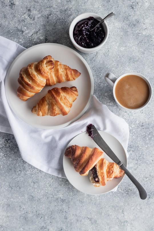 Croissant Flatlay