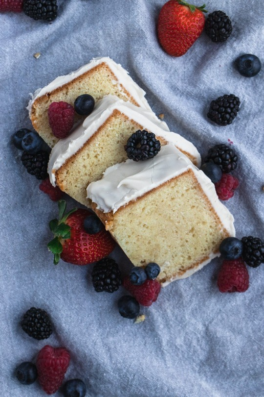 Sour Cream Pound Cake Slices