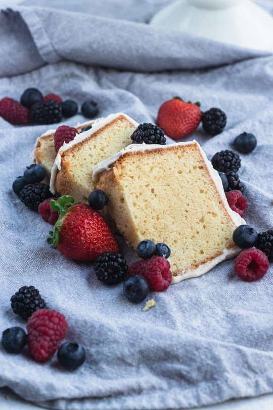 Sour Cream Pound Cake Slices
