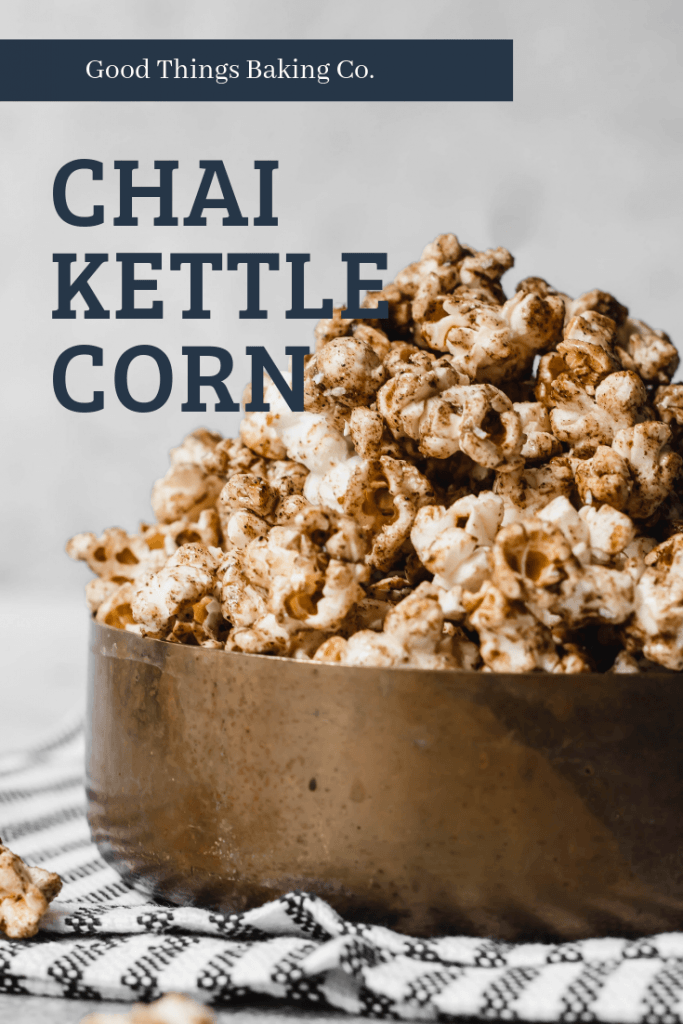 Chai Kettle Corn is a little spicy and sweet, with just a hint of salt for balance. It's a perfect fall snack in every way.