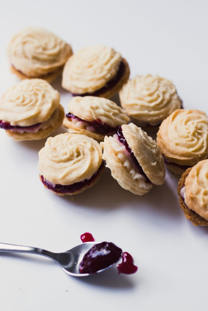 Viennese Whirls with Buttercream and Jam