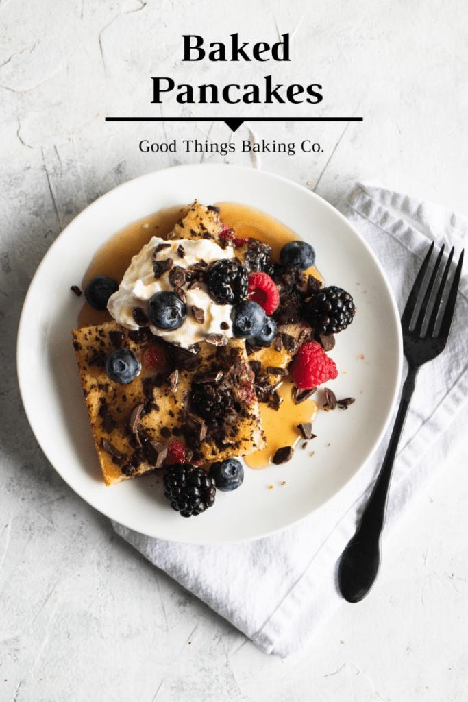 Baked Sheet Pan Pancakes Recipe