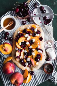 Stone Fruit and Goat Cheese Flatbread