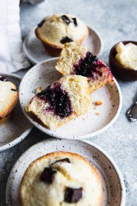 A jam filled Sourdough Muffin