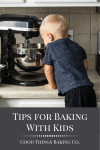 Pinterest Graphic for Tips for Baking With Kids Post